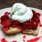 Strawberries & cream scone